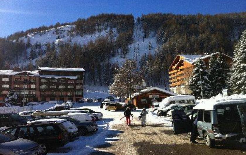 Location de vacances - Studio à La Foux d'Allos - La foux d'Allos pendant la saison de ski