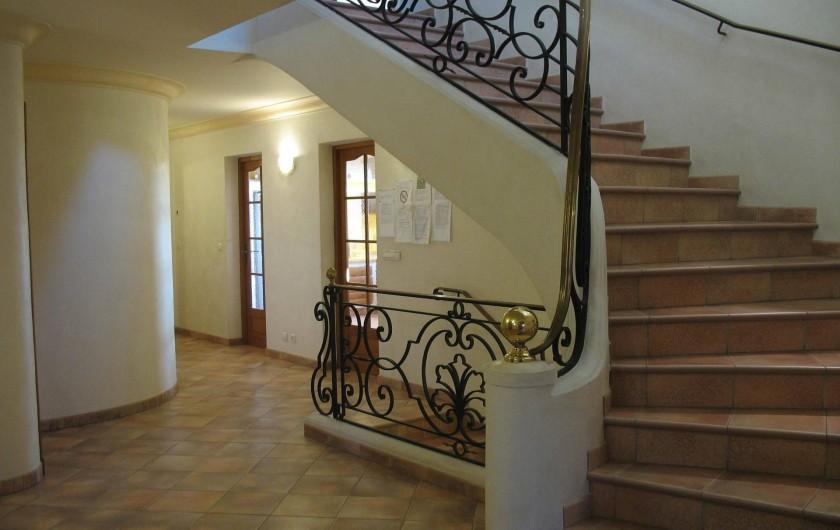Location de vacances - Villa à Cannes - Hall villa des oliviers