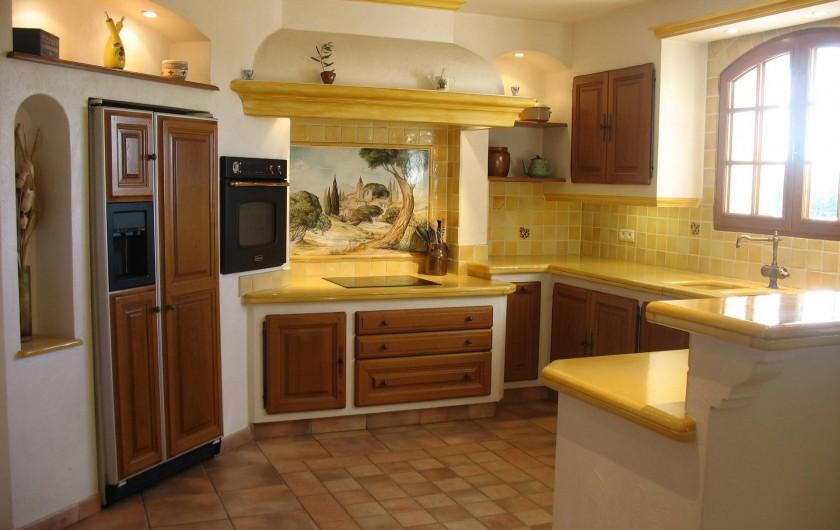 Location de vacances - Villa à Cannes - Cuisine américaine villa des oliviers