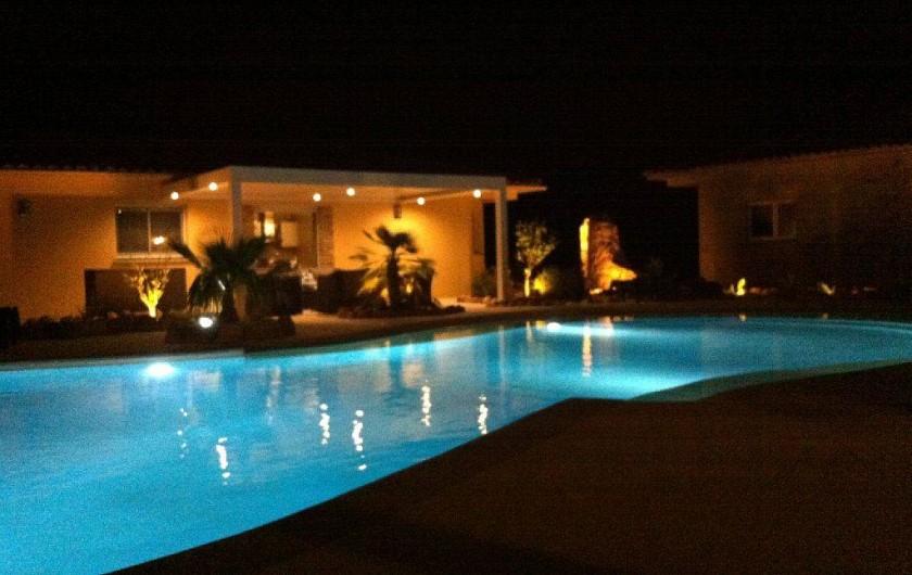 Location de vacances - Villa à Lecci - Eclairage nocture