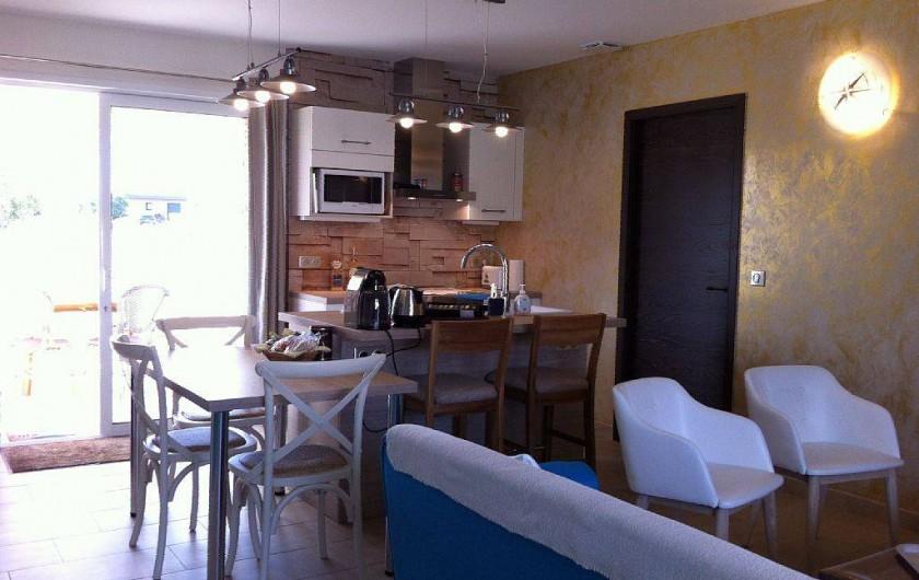 Location de vacances - Villa à Lecci - Cuisine ouverte sur le séjour