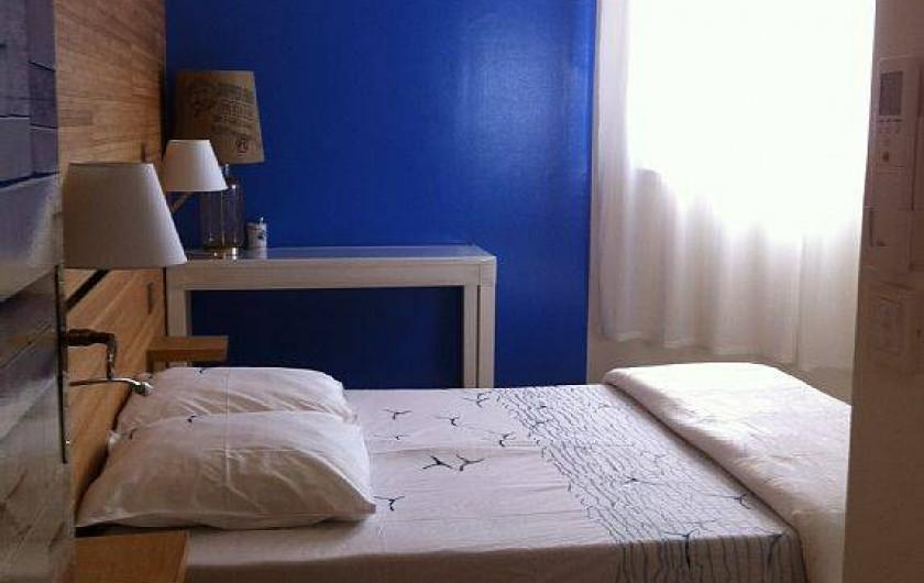 Location de vacances - Villa à Lecci - Chambre parentale bleue