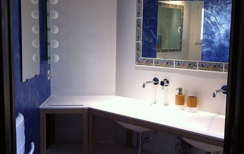 Location de vacances - Villa à Lecci - Salle d'eau composée de 2 vasques avec douche