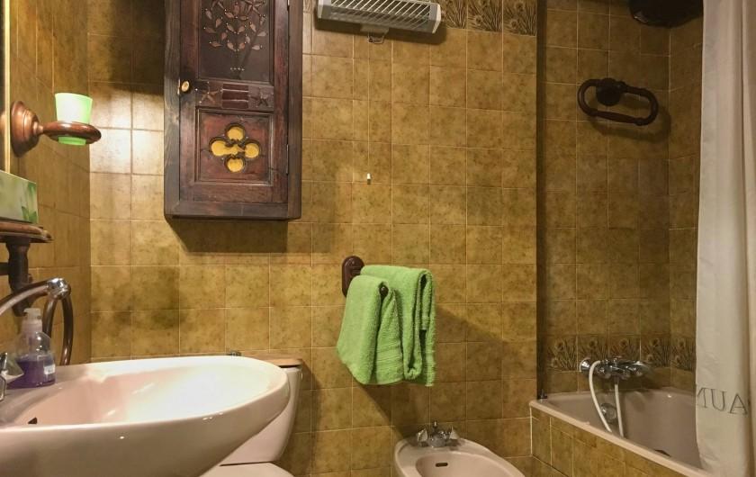 Location de vacances - Maison - Villa à Saint-Dalmas-le-Selvage - Salle de bain étage