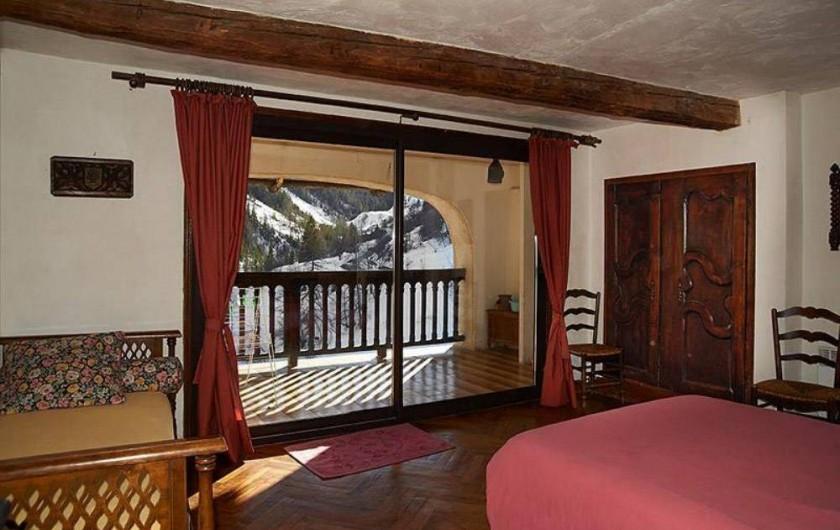 Location de vacances - Maison - Villa à Saint-Dalmas-le-Selvage - Chambre 1 avec terrasse