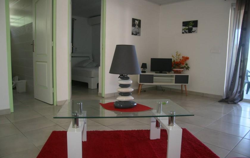 Location de vacances - Appartement à Terre-de-Haut - Salon