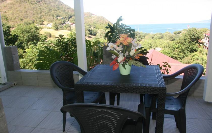 Location de vacances - Appartement à Terre-de-Haut - Terrasse extérieure