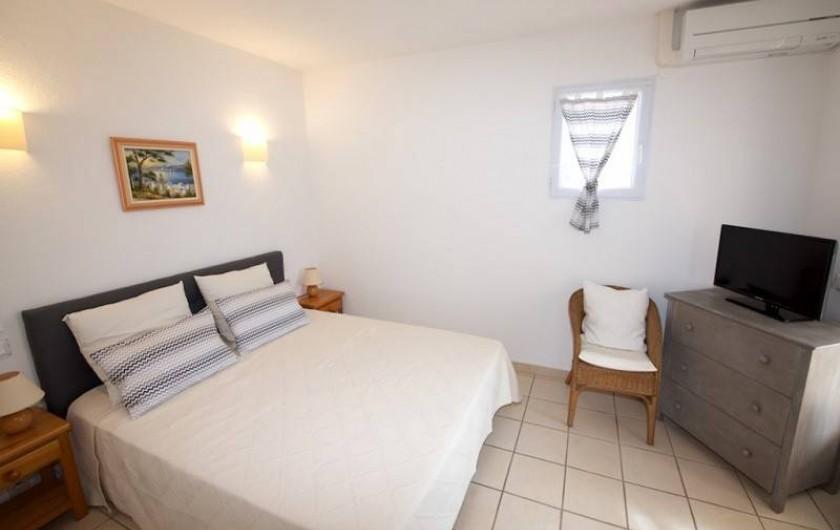 Location de vacances - Villa à Les Issambres - CHAMBRE ETAGE AVEC TERRASSE ET DOUCHE