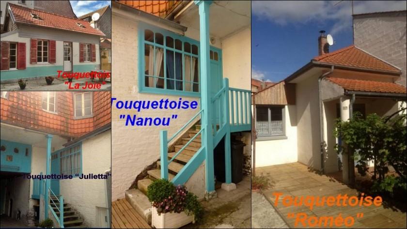 Ensemble des 4 maisons avec cour intérieure partagée.