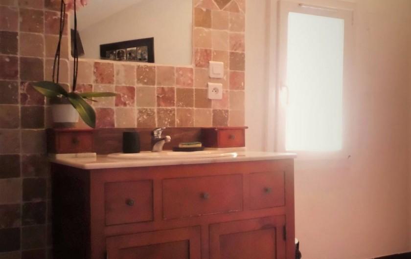 Location de vacances - Maison - Villa à Saint-Rémy-de-Provence - Le lavabo de la salle de bain