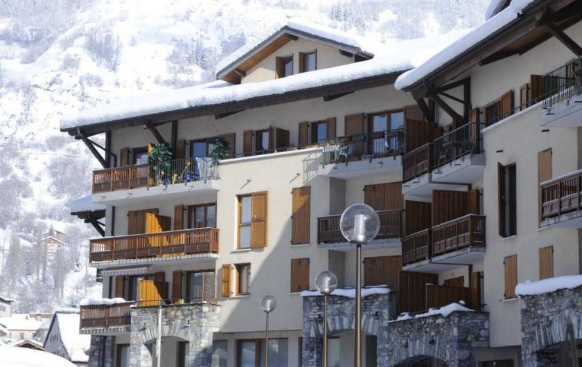 Location de vacances - Appartement à Bourg-Saint-Maurice - façade sud