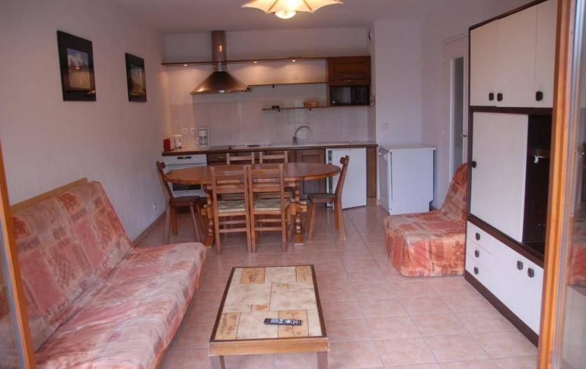 Location de vacances - Appartement à Bourg-Saint-Maurice - séjour cuisine