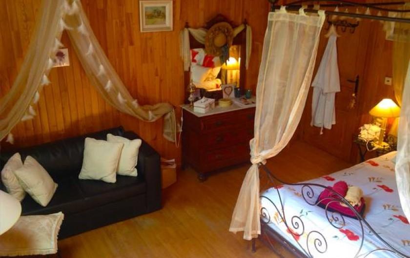 Location de vacances - Chambre d'hôtes à Martelange - Chambre Romantique