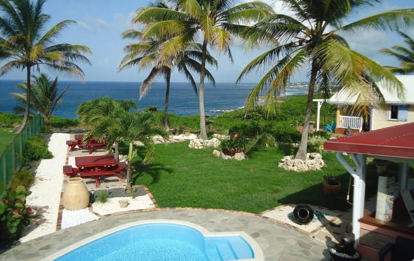 Location de vacances - Villa à Le Moule - vue extérieure de l'HABITATION