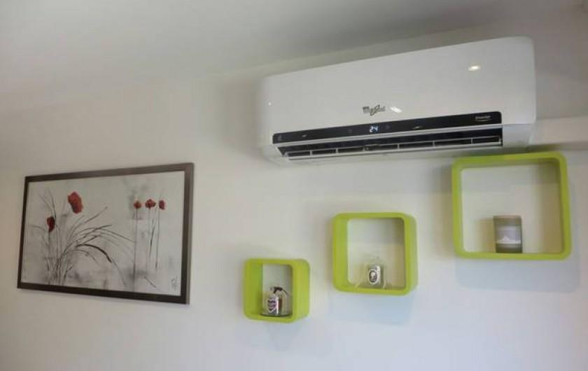 Location de vacances - Appartement à Menton - Appartement climatisé INVERTER réversible.