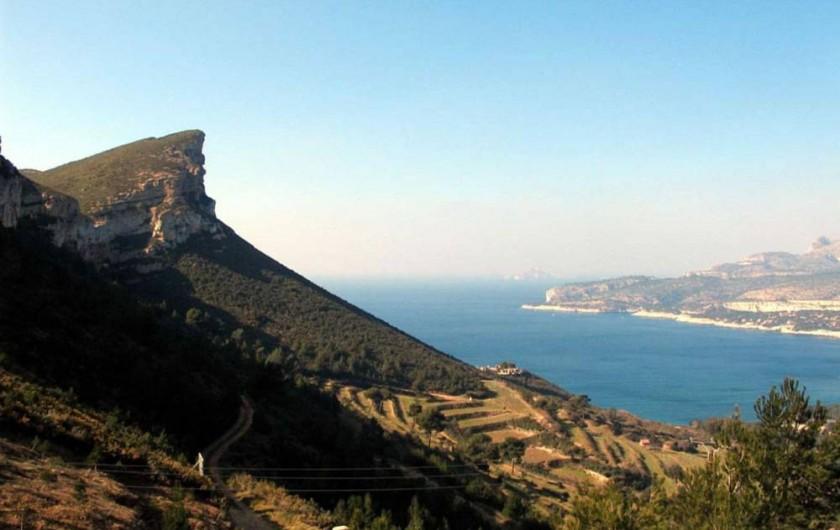 Location de vacances - Appartement à Cassis - Le Cap Canaille : plus haute falaise d'Europe