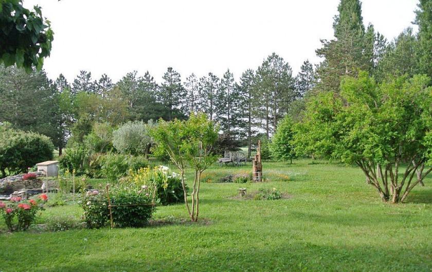 Location de vacances - Appartement à Caderousse - Une partie du jardin