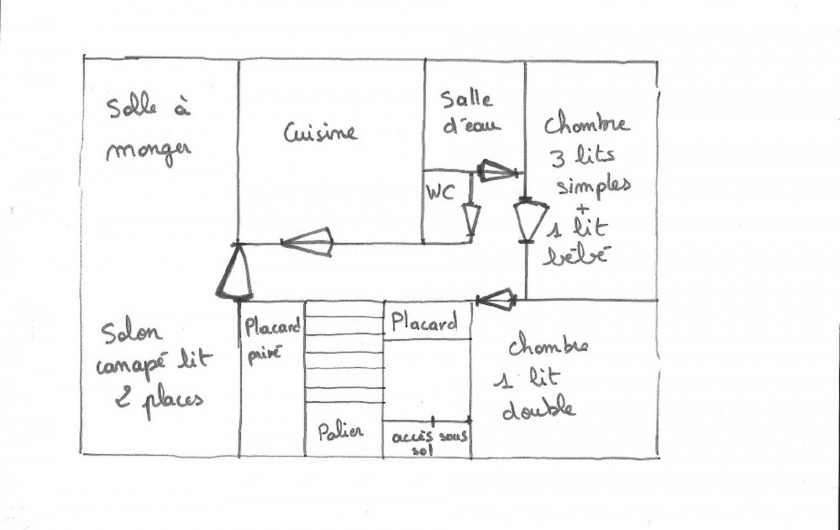 Location de vacances - Maison - Villa à Saint-Trojan-les-Bains - Plan de la maison