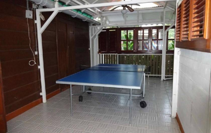 Location de vacances - Villa à Bouillante - Tennis de table