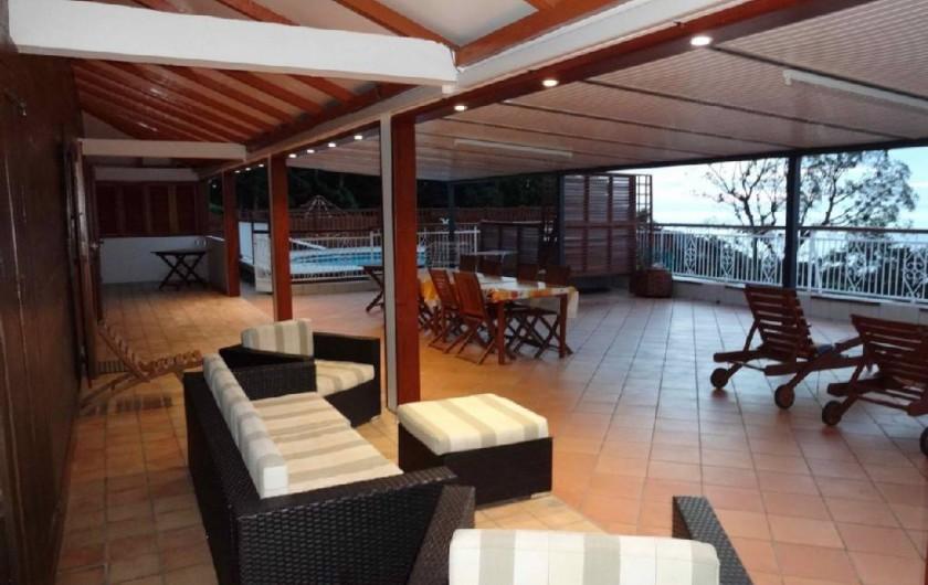 Location de vacances - Villa à Bouillante - Autre vue de la terrasse