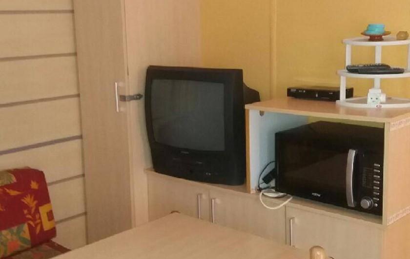 Location de vacances - Bungalow - Mobilhome à Saint-Aygulf - four et tv