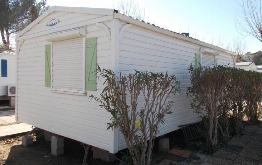 Location de vacances - Bungalow - Mobilhome à Saint-Aygulf - arrière