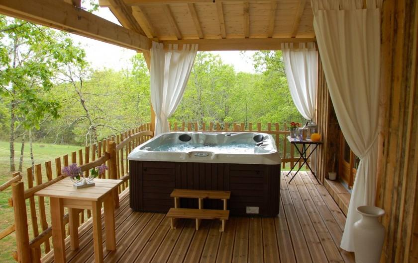 Location de vacances - Chambre d'hôtes à Mauzac-et-Grand-Castang - la cabane et son spa privatif