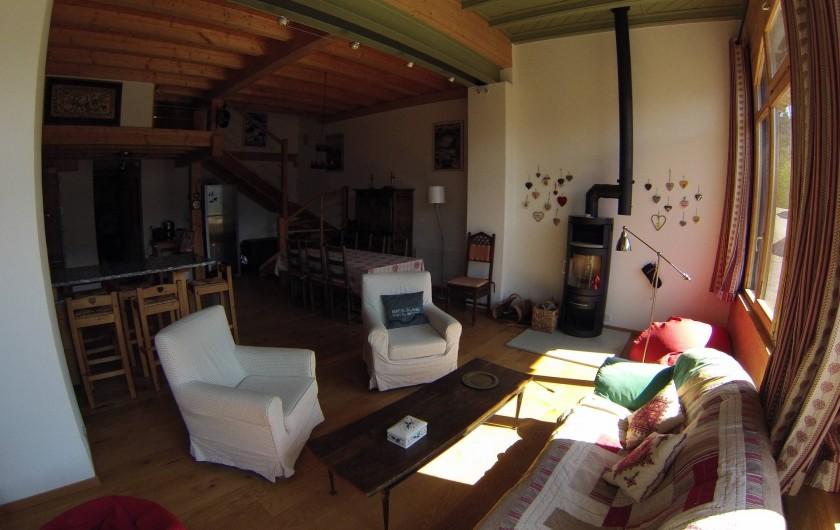 Location de vacances - Appartement à Gryon - coin salon