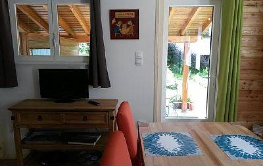 Location de vacances - Gîte à La Bresse - salle à manger  avec accès direct directe dur la terrasse abritée