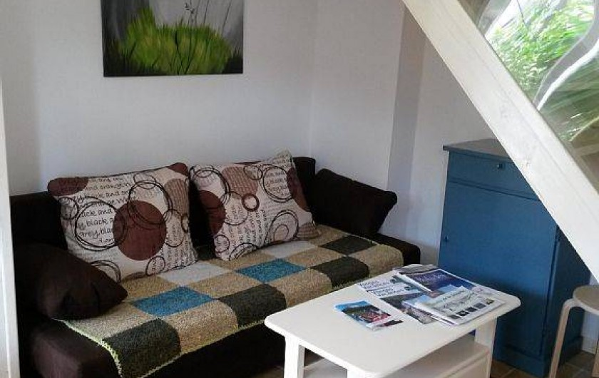 Location de vacances - Gîte à La Bresse - séjour avec canapé coin télé