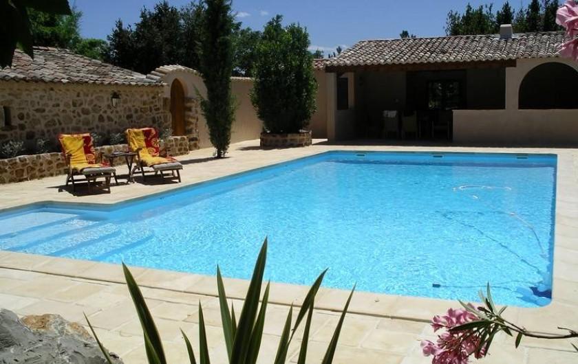 Location de vacances - Gîte à Rosières - Piscine 11x6 m avec le pool-house