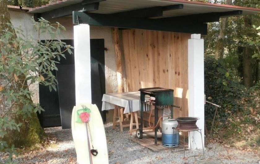 Location de vacances - Maison - Villa à Bidart - abri de jardin avec  plancha , barbecue et morey