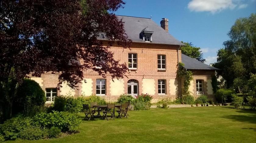 Gentilhommière XIXème classée Fondation du Patrimoine Façade sud côté parc