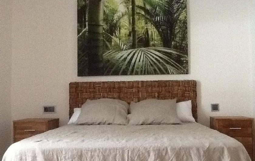 Location de vacances - Appartement à Salou - Chambre avec lit 150 avec accès SDB et WC