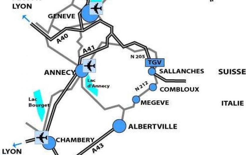 Location de vacances - Appartement à Combloux - plan d'accès