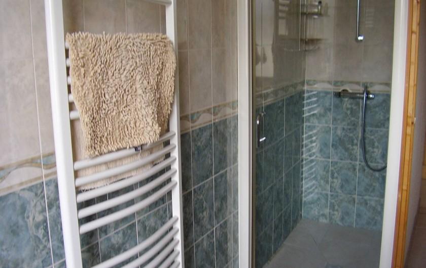 Location de vacances - Appartement à Combloux - salle de bain avec douche