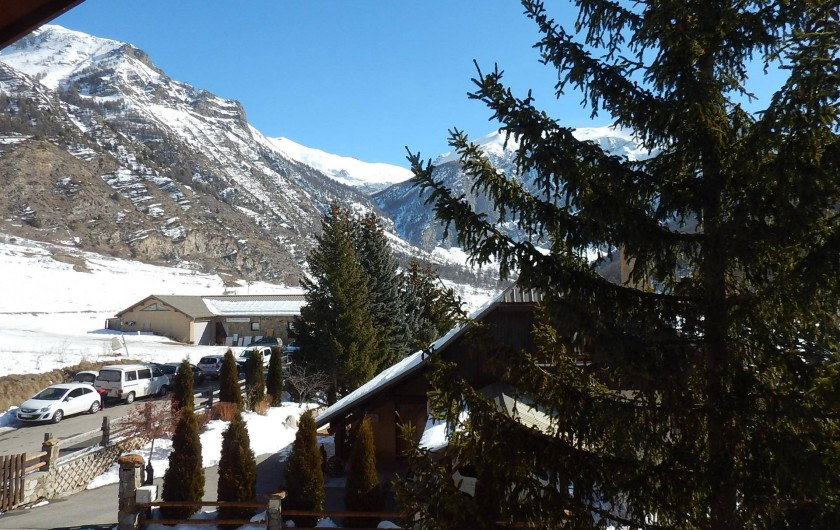 """Location de vacances - Chalet à Crévoux - La vue du balcon """"est"""""""