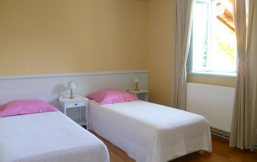 Location de vacances - Gîte à Le Glabat - Chambre gite version lits séparés 80x200