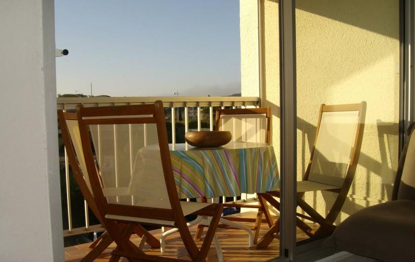 Location de vacances - Appartement à Gruissan - terrasse