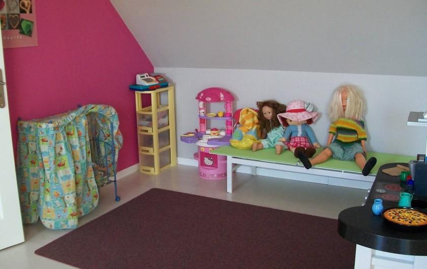 Location de vacances - Gîte à Saint-Omer - Salle de jeux à l'étage