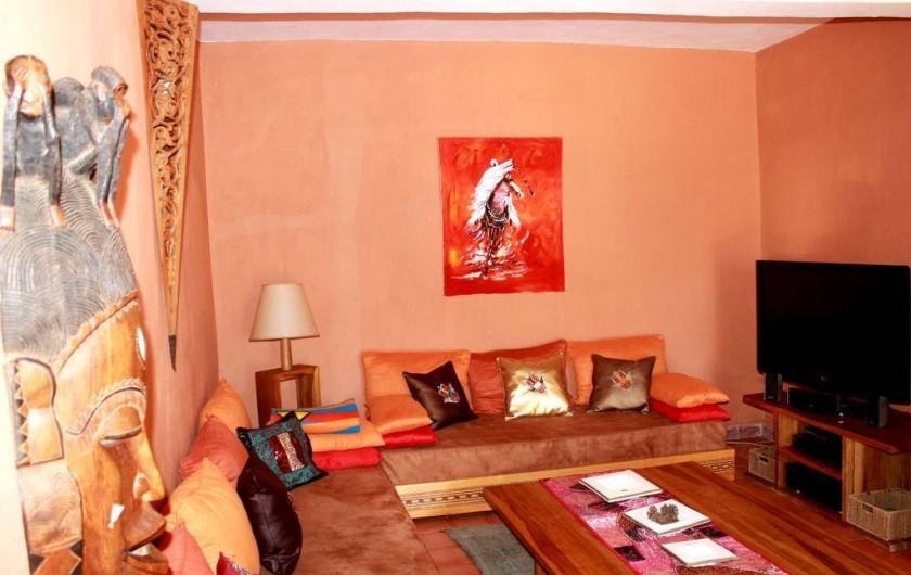 Location de vacances - Chambre d'hôtes à Agadir - coin télé de la maison