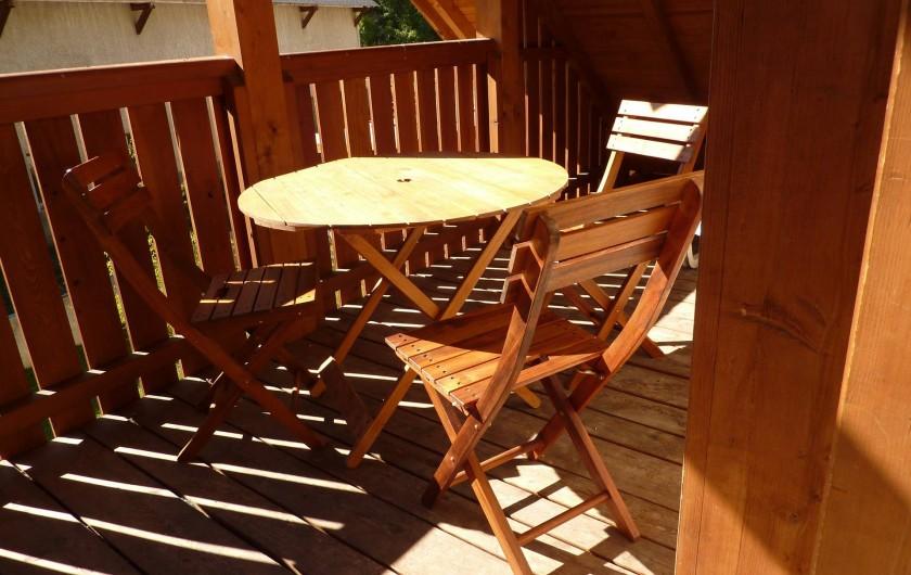 Location de vacances - Appartement à Le Monêtier-les-Bains - Balcon