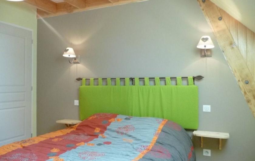 Location de vacances - Gîte à Marchastel - 1er étage - chambre 2 : lit en 160 x 200