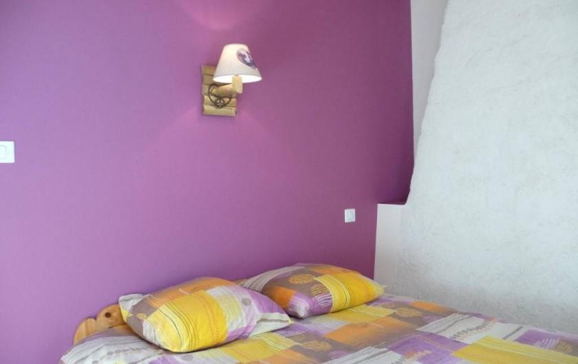 Location de vacances - Gîte à Marchastel - 1er étage  - chambre 3 : lit en 140 x 190