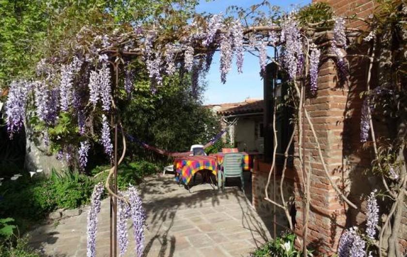 Location de vacances - Appartement à Bompas - la terrasse