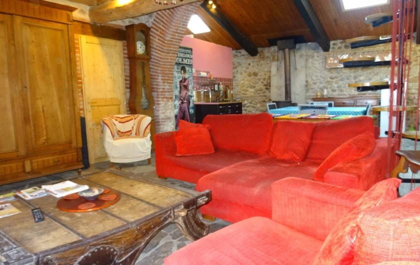 Location de vacances - Appartement à Bompas - le salon sous un autre angle