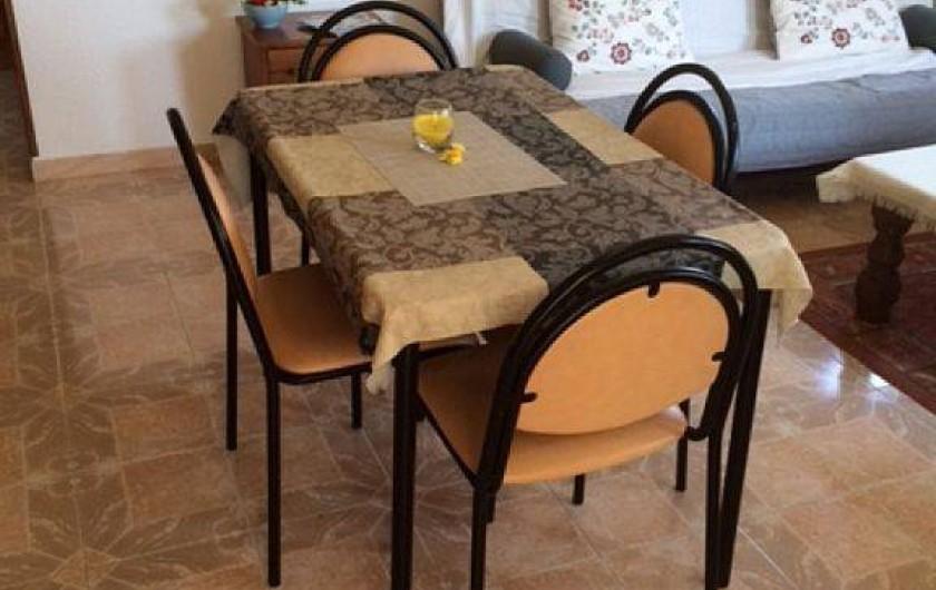 Location de vacances - Villa à Miami Platja - la table à manger du séjour