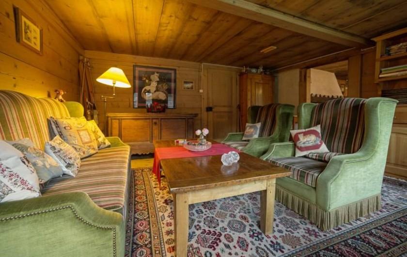 Location de vacances - Chalet à Les Diablerets - Salon