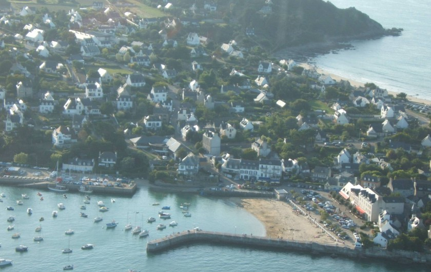 Location de vacances - Gîte à Plouégat-Moysan - Le port de Locquirec (vue d'hélicoptère)