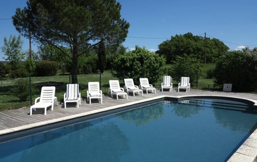 Location de vacances - Gîte à Villeréal - Piscine 11x5 m - Vue à 360° sur la campagne
